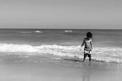 black and white beach (maj488/mike) Tags: splash sand surf scene florida stgeorgeisland gulfofmexico ocean youth young joy beach sun waves black child children