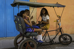 School Girls on Tricycle (Snappy_Snaps) Tags: cuba havana caribbean school highschool highschoolgirls tricycle street cubanlibre cubanlife cubastreet cubahavana oldhavana oldhavananeighbourhood cobblestonestreet cobblestone modeoftransport
