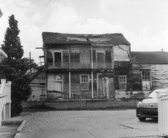 Ready For Demolition (bongo najja) Tags: orleans new uptown evs mx 35 rolleiflex fp4 ilford