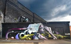 Brick Victorian Arch and Graffiti. (Manoo Mistry) Tags: nikon nikond5500 tamron tamron18270mmzoomlens birmingham birminghampostandmail englanduk westmidlands deritend digbeth graffiti streetart mural