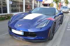 Corvette C7 Grand Sport (Monde-Auto Passion Photos) Tags: voiture vehicule auto automobile corvette chevrolet c7 grand sport coupé bleu blue sportive supercar new nouveauté france carnac