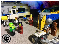 51-01 The Guardians' Stopover (captainmutant) Tags: afol classic space lego ideas legospace legography photography minifig minifigs minifigure minifigures moc sciencefiction science fiction scifi exploration brickography toy custom drax gamora starlord rocket raccoon groot