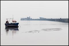 Calm misty Southend No3 (exreuterman) Tags: southend beach seafront essex thames pier sun sunbathing boats mist tide sand