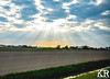 Sun Rays in The Netherlands (keegrich89) Tags: sunset sunrays amsterdam netherlands europe openfield sunandcloud