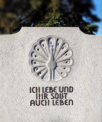 Ausstellung Bergfriedhof Tübingen 2018-05-26 (eagle1effi) Tags: paraklet fürsprecher tomb grabmal bergfriedhof pfau