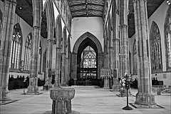 Hull Minster  Monochrome (brianarchie65) Tags: hullminster minster church font aisle roof alter stained glass stainedglasswindows blackandwhite blackandwhitephotos blackandwhitephoto blackwhite123 monochrome woodcarvings cafe memorial unlimitedphotos flickrunofficial flickruk flickr flickrcentral ukflickr canoneos600d geotagged brianarchie65 graves rubble trash rubbish tower