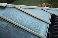47/365 - Frost patterns (Spannarama) Tags: 365 february roof frost glass patterns cold winter outofmymumswindow mumsgarden cimko28mm cimko 28mm vintagelens manualfocus
