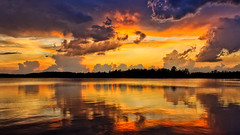 Storm Clouds at Sunset (Bob's Digital Eye) Tags: bobsdigitaleye canon canonefs1855mmf3556isll clouds laquintaessenza lake lakesunsets may2018 reflections silhouette sky skyline skyscape stormclouds sunset sunsetoverwater t3i water flicker flickr