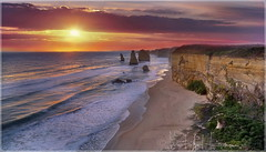 You can't cross the sea merely by standing and staring at the water. (PhotoArt Images) Tags: australia greatoceanroad 12apostles portcampbell photoartimages beach sea ocean sunset nikon1424mm