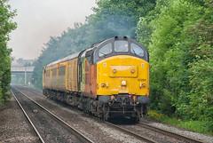 Colas Rail Freight Class 37 37254 'Cardiff Canton' (Barry Duffin) Tags: train railway testtrain telephoto networkrail colas class37 37254 beeston nottingham nevillehill derbyrtc 1q86