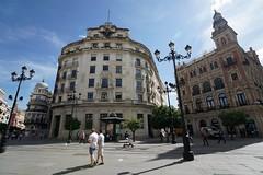 Buildings on Plaza Nueva, Seville (Joe Lewit) Tags: variosonnart281635 seville spain buildings architecture plazanueva