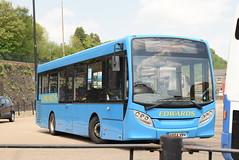 EC YX64VRV @ Pontypridd bus station (ianjpoole) Tags: edwards coaches alexander dennis enviro 200 yx64vrv working route 100 pontypridd bus station royal glamorgan hospital ynysmaerdy