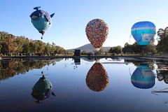 Canberra balloon festival (RossCunningham183) Tags: canberra act australia hotairballoon festival balloon reflection balloonfestival
