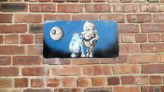 These aren't the droids you're looking for (rylojr1977) Tags: streetart graffiti urban liverpool art spray paint walls murals unitedkingdom merseyside england starwars cartoon parody movie r2d2 c3po droids scifi