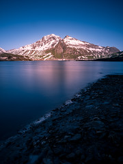Lago del Moncenisio (erripollo) Tags: mountain colors wild olympus photography italy lake landscape light cloud beautiful em5markii valledisusa alps longexposure