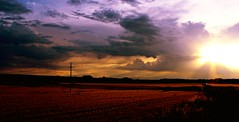 Comienza el final de la tarde (portalealba) Tags: juslibol zaragoza aragon españa spain sunset sol atardecer ocaso portalealba canon eos1300d nwn