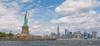 Liberty Island (djmeister) Tags: blue manhattan island sky liberty statue skyline york new