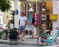Week 22: Our Companions (MoniqueDK) Tags: 52weeksof2018 people straatfotografie streetphotography greece lefkas dog hond bike fiets