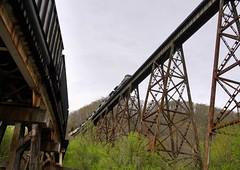 NS 745 and CSX KT24 (Railroad Gal) Tags: norfolksouthern csx clinchfield clinchfieldrailroad coaltrain locomotive virginia appalachian appalachianmountains coppercreektrestle bridge railroad railfan railfanning