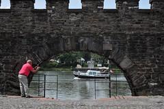 Maastricht (lorenzog.) Tags: maastricht maas mosa bridge architecture river netherlands meusebank meuse nikon d700 perspective people vivalaweekend walking takingapicture