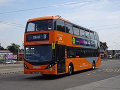 Nottingham City 450 Beeston (Guy Arab UF) Tags: nottingham city transport 450 yn18sxk scania n280ud alexander dennis enviro 400 bio gas bus beeston interchange buses