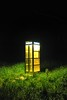 Late Night Call (Kirby Wright) Tags: phone booth phonebooth old school telephone grass green country middle no where dark sky night time path longer long exposure nikon d700 rokinon 35mm f14 14 tripod manfrotto vermont wisconsin dane county