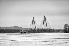 Natcher Bridge and Barn (AP Imagery) Tags: maceo rockport barn monochrome field natcher winter bridge land farm bw blackandwhite kentucky snow usa