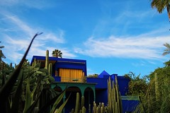 Majorelle Garden - House of Yves Saint Laurent (VictorlW) Tags: yves saint laurent marrakech morroco fashion sky