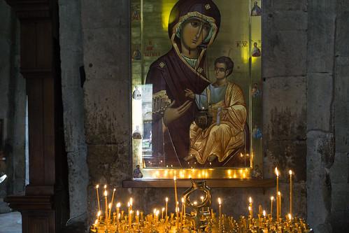 In the Svetitskhoveli Cathedral, Mtskheta, Georgia