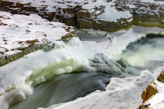 Sioux Falls (Notkalvin) Tags: siouxfalls falls waterfall southdakota notkalvin mikekline notkalvinphotography outdoor winter water ice snow cold frigid landscape nopeople wide horizontal colorpicture photography