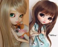 2008 vs 2018: Nayame (·Yuffie Kisaragi·) Tags: doll pullip wind custom yuzuaesthetics obitsu rewigged rechipped