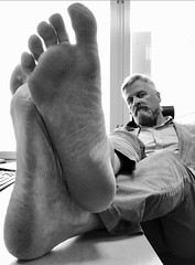 Dirty feets at work. (silvpix) Tags: guy man soles barefoot feets dirtyfeet