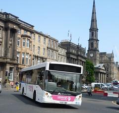 Edinburgh Coach Lines operating Service 13 in George Street, Edinburgh. (calderwoodroy) Tags: 638 service13 standrew'sandstgeorge'schurch yj62jww evolution mcv tenderedservice edinburghcoachlines singledecker bus georgestreet newtown edinburgh scotland