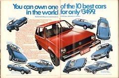 1976 Volkswagen Rabbit Advertisement Playboy March 1976 (SenseiAlan) Tags: 1976 volkswagen rabbit advertisement playboy march