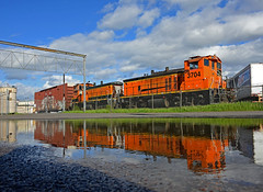 EMD Reflections (Missabe Road) Tags: bnsf 3704 3429 jefffoster remotejob sw1500 mp15 gn