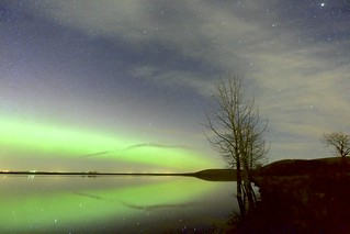 Night on a prairie lake