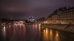 Belle Paris (karinavera) Tags: city longexposure night photography cityscape urban ilcea7m2 sunset nortedame paris river