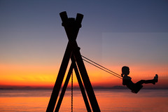 Potentially kinetic (Elios.k) Tags: horizontal outdoors people oneperson girl swing playground child playing sunsetcolours dof depthoffield focusinforeground backgroundblur bokeh silhouette scenery seascape landscape calm serene sunset dusk water sea pagasiticbay reflection light sunlight bay island clear sky clouds weather colour color travel travelling august 2017 summer vacation canon 5dmkii camera photography milina μηλίνα πήλιο pelion thessaly greece ελλάδα