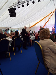 Irish President Michael D Higgins at Aras an Uachtarain - Inside the Marquee at the Garden Party June 2018 (sean and nina) Tags: aras an uachtarain irish ireland eire eireann garden party marquee indoors inside tent formal gathering dinner meal entertainment people persons performers performances candid public male female summer june 2018 dublin phoenix park state residence home michael d higgins president tables seated sitting food drink happy colour color colourful colorful white unposed posed posing singing music musicians
