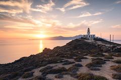 Armenistis Lighthouse, Mykonos, Greece (Nils Leonhardt) Tags: leefilters gitzo sigmaart nikond810 landscape sky greece sunset ocean lighthouse water clouds goldenhour leegradfilter cyclades nilsleonhardt