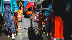 Congestion (Sean Batten) Tags: london england unitedkingdom gb soho streetphotography street reflection black city urban nikon d800 50mm pavement road car person