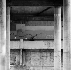 Angry thoughts (MortenTellefsen) Tags: angry thoughts bw blackandwhite blackandwhiteonly people bridge gatefoto street streetphoto monochrome