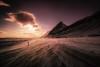 Powdered Highway (Atmospherics) Tags: twilightcolour dusklight fadinglight vastlandscape lowlight winterlight clouds mountainpeaks landscape atmospherics duskcolours