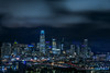 southern heights skyline (pbo31) Tags: sanfrancisco california night dark black may 2018 city urban boury pbo31 color potrerohill skyline blue over view salesforce tower 181fremont lightstream traffic roadway 280 highway overpass sky layer marine fog
