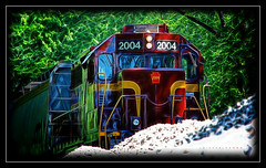 Fractal Locomotion (J Michael Hamon) Tags: louisvilleandindiana railroad train locomotive columbusindiana fractal editing vignette photoborder hamon nikon d3200 nikkor 55300mm frac fractalius pov outdoor outdoors may transportation