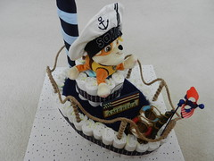 Boat diaper cake (Thong Bartlett) Tags: babyshower boat diapercake pirate hobbylobby target starsspangled nautica
