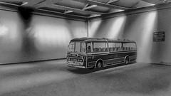 Neath & Cardiff Coach In The Garage. (ManOfYorkshire) Tags: neathcardiff plaxton panorama aec reliance depot garage diorama 176 scale model bus oogauge ltx829e corgi ooc diecast