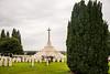 Tyne Cot Cemetery - Cross of Sacrifice 6 (Le Monde1) Tags: ypres belgium memorial flandersfields lemonde1 cwgc war graves cemetery leper wwi salient battlefields d610 nikon tynecot headstones crossofsacrifice cedars