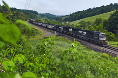 Time on the MGA (benpsut) Tags: emd emdsd60e ns nsmanorbranch mga ns6943 trains railroad time pennsylvania ns1048 farm farmland rural