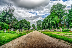 The end of the road is just path to heaven (Paul Wrights Reserved) Tags: landscape landscapes vanishingpoint vanishing leadinglines clouds cloudscape sky skyscape tree trees graveyard gravestones path pathway